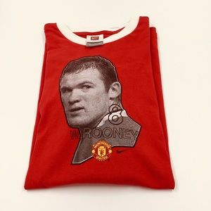 Nike Manchester United Rooney Face T Shirt Red XXL